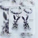 【羅蘭達銀飾】垂墜式耳環。925純銀。硫...