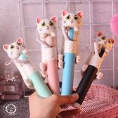 自拍桿 正韓創意個性卡通迷你貓咪手機支架拍照線控自拍桿自拍神器通用型 雙12八五折搶先夠!