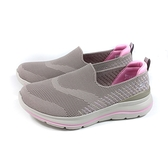 SKECHERS GOWALK 運動鞋 懶人鞋 女鞋 灰褐色 寬楦 124385WTPPK no261