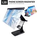 捷特曼L20手機螢幕放大器+支架二合一 12吋手機放大鏡 桌面摺疊支架/放大鏡兩用 藍光鏡片