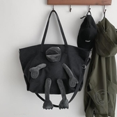 百搭韓版帆布包大容量包包女潮酷側背斜背【小酒窩服飾】