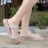 chic鞋子復古涼鞋女學生夏季韓版平底百搭軟妹兩穿沙灘鞋 伊鞋本鋪