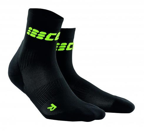 CEP 【歐洲第一品牌】超輕量短襪 - 黑螢光綠