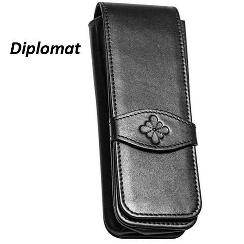 Diplomat 迪波曼牛皮筆套(3入)