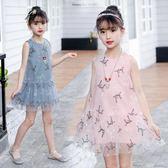 6女童連衣裙7韓版夏裝2018新款洋9氣公主裙5歲中大童背心裙子繡花洋裝 店慶一周 限時八折鉅惠