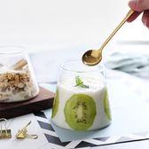 創意富士山牛奶果汁杯耐熱飲料杯子家用水杯透明玻璃雪糕杯啤酒杯