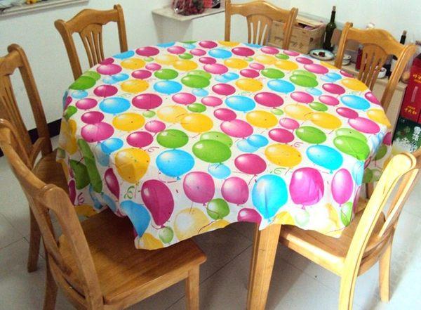 [韓風童品]一次性桌布 派對桌巾 防水防油加厚桌布 生日派對 露營桌布 會場佈置 汽球款