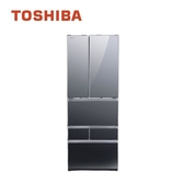 【TOSHIBA東芝】601L玻璃六門變頻冰箱GR-ZP600TFW