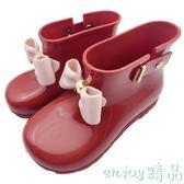 雙12狂歡購 兒童蝴蝶結雨鞋女童果凍防滑水靴韓版公主鞋短靴雨靴小孩