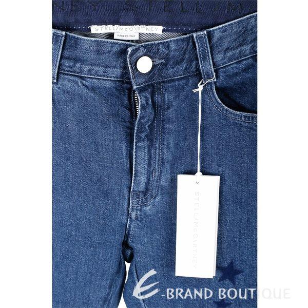Stella McCartney 絨布星星補丁貼深藍色牛仔男友褲 1810437-34