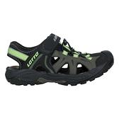 LOTTO 男冒險家護趾排水涼鞋(休閒 魔鬼氈 健走鞋 水陸鞋 反光≡體院≡ LT1AMS3235