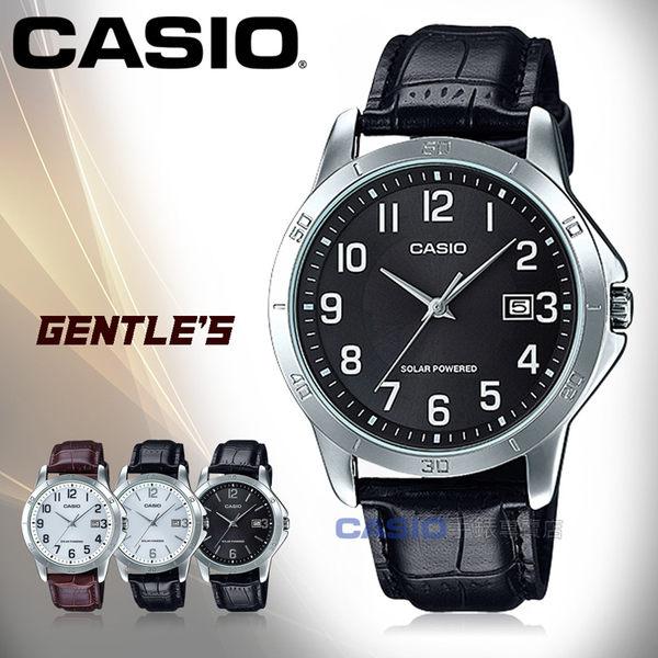 CASIO 卡西歐 手錶專賣店 MTP-VS02L-1B 男錶 皮革錶帶  太陽能 防水 日期顯示