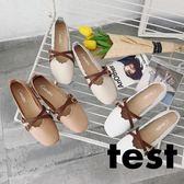 豆豆鞋 女韓版百搭平底復古奶奶鞋淺口孕婦休閒鞋 艾米潮品館