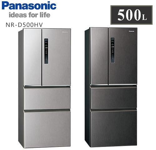 【佳麗寶】留言享加碼折扣(Panasonic國際牌)500L四門變頻冰箱NR-D500HV