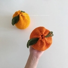 即食柚 Hanrabong橘子 純手工編織 可愛利器 毛線收納斜 花樣年華