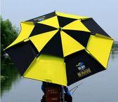 釣魚傘釣傘遮陽傘防雨萬向雙層防曬2.4米地插漁具傘防風加固 igo 極有家