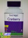 [COSCO代購 776] 促銷至5月25日 Natrol 納妥蔓越莓速崩錠 120錠(2入) W115607
