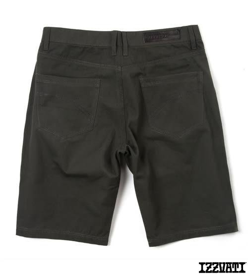 IZZVATI-珠帆紋短褲-軍綠