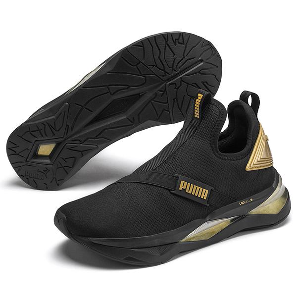 PUMA LQDCELL Shatter Mid 女鞋 訓練 健身 避震 輕量 黑 金【運動世界】19327802
