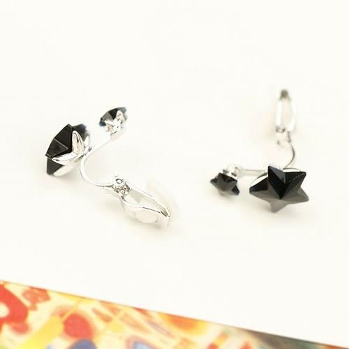 【NiNi Me】夾式耳環 閃亮氣質星星寶石夾式耳環 夾式耳環 E0057