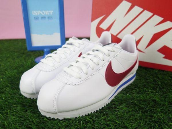 【iSport愛運動】NIKE CLASSIC CORTEZ LEATHER 阿甘 休閒鞋 807471103 紅白藍 女款