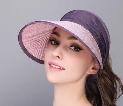夏天空頂遮陽帽度防曬太陽帽休閒百搭防紫外線帽   -charle0033