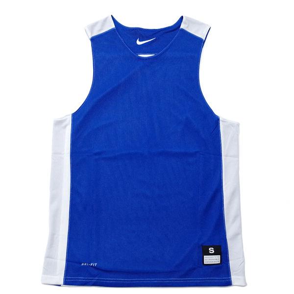 Nike League Rev Practice 男 寶藍 白 雙面穿團體籃球服 球衣 透氣 上衣 無袖 背心 t恤 631064-494