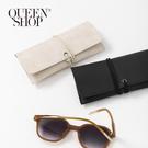 Queen Shop【06070274】簡約眼鏡皮質收納袋 兩色售*現+預*