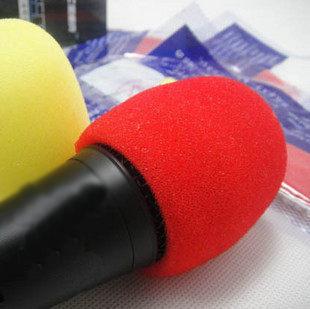 Qmishop 防噴罩/海綿罩/KTV麥克風套/話筒套/海綿套/防風罩(一對) 【J230】
