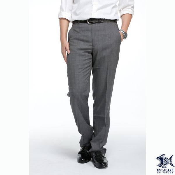 【NST Jeans】極緻直橫交織 羊毛西裝褲 (中腰) 391(6937) 平面/無打摺/早春商品