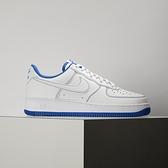 Nike Air Force 1 07 男 白藍 經典 復古 縫線 皮革 休閒鞋 CV1724-101