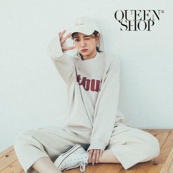 Queen Shop【01110437】DEBUT字母長版大學T 兩色售*現+預*