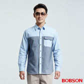 BOBSON 男款拼色襯衫(36001-53)