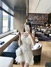 法式超仙蕾絲鏤空吊帶連身裙