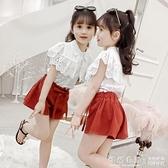 女童套裝夏裝2020新款兒童韓版夏季網紅女孩休閒中大童短褲兩件套 怦然新品