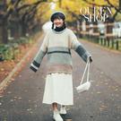 Queen Shop【01070966】大圓領配色寬鬆長版毛衣*現+預*