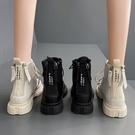 馬丁靴女英倫風2020夏季薄款百搭平底短靴雙拉鏈瘦瘦靴子透氣網靴 非凡小鋪