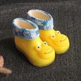 (萬聖節狂歡)兒童童鞋 冬季卡通兒童雨鞋女童雨靴子寶寶水膠鞋男童防滑加絨雨鞋