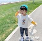 童裝男童t恤長袖2021新款韓版假兩件純棉兒童上衣春秋寶寶打底衫 小艾新品