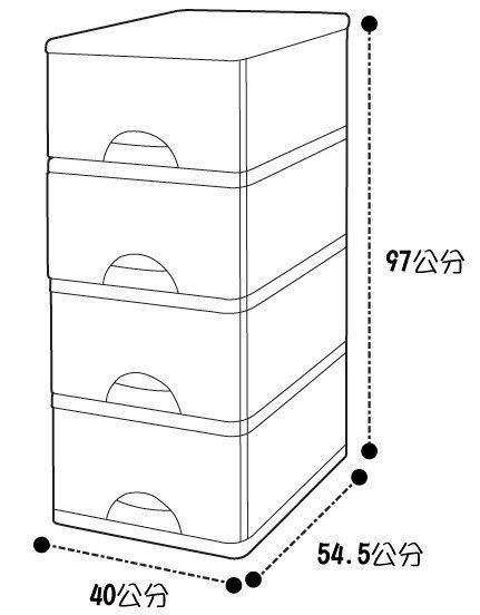 TWL04 大自然收納櫃(四層)附輪
