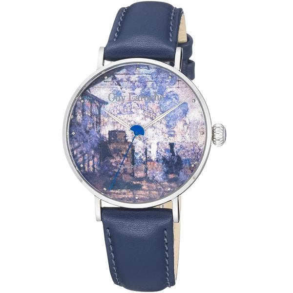 姬龍雪Guy Laroche Timepieces藝術系列腕錶-莫內 GA1001SLS-01