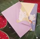 3封信封信紙《IMISSYOU》可愛兔子情侶清新創意【君來佳選】