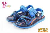 GP涼鞋 中大童 磁扣兩穿防水涼鞋 I6868#藍色◆OSOME奧森鞋業