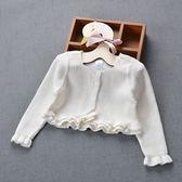 女童披肩春秋寶寶開襟毛衣外套