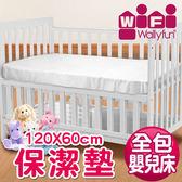 WallyFun  嬰兒床用保潔墊 -全包款(120X60CM) ★台灣製造,採用遠東紡織聚酯棉★
