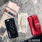 個性創意蘋果7plus手機殼iphone6皮字母防摔套6s女歐美大氣潮牌8p  台北日光