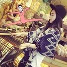 韓國熱賣 仿羊絨 雙面 菱格 小格子AngelNaNa  女圍巾 披肩 (SSA0011)