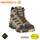 【MERRELL 美國 男 MOAB 2 MID GORE-TEX寬楦高筒登山鞋《棕色》】ML06057W/健行