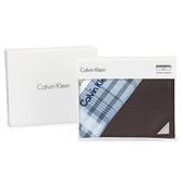Calvin Klein 經典鐵牌LOGO防刮多卡短夾(咖啡色-含帕巾)103093-1