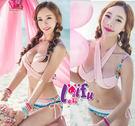 得來福,C127淡淡清雅民俗變化二件式泳衣游泳衣泳裝比基尼,售價690元